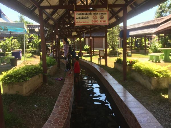 メーチョーク温泉の足湯