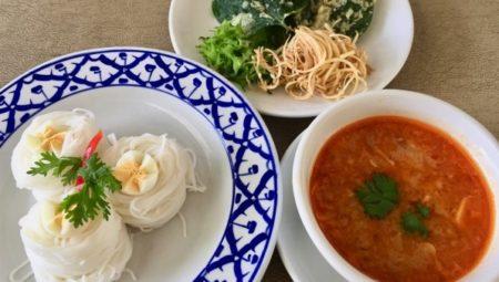 タイのそうめん(カノムジーン)7種類の食材レシピ