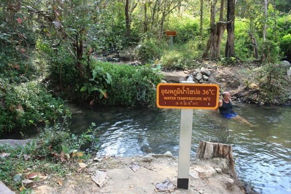 ター・パーイ温泉の野湯の最上流