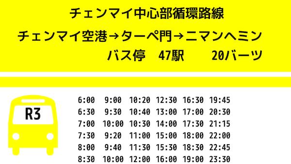 チェンマイR3黄バス