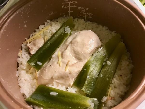 炊飯器で炊いたカオマンガイライス