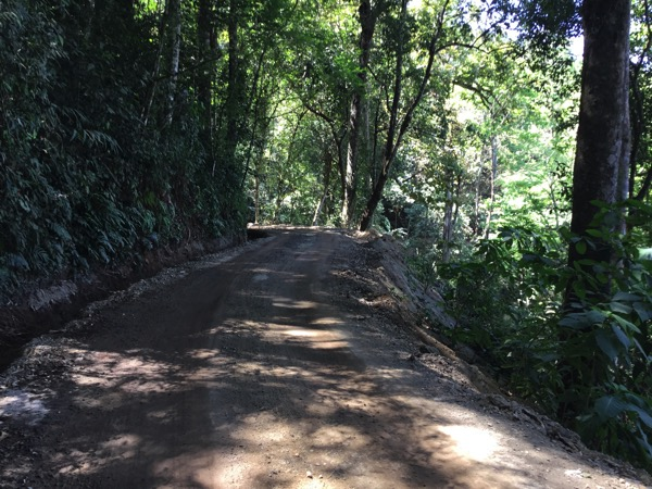 モン族の集落Khun Chang Khianに行く山道