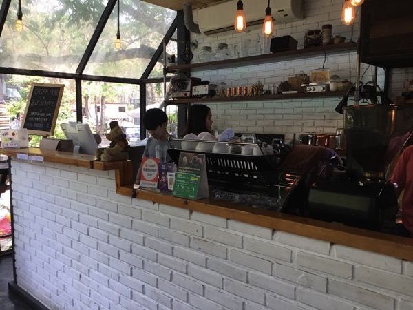 No. 39 cafeの注文カウンター