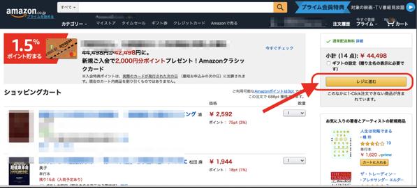 アマゾン海外配送注文画面