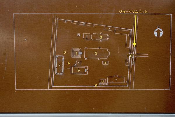 ワット・チェンマンの配置図