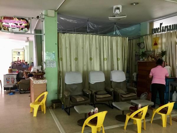 チェンマイ第3バスターミナルの2階のマッサージ店