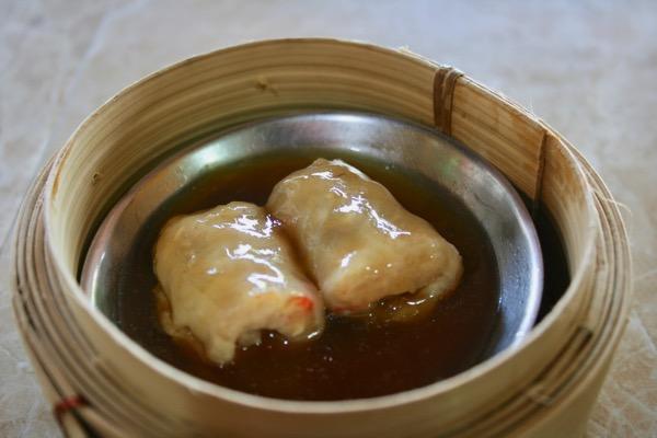 チェンマイのジョークソンペットの魚シュウマイ