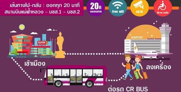 チェンライの新しいバスの運行体系