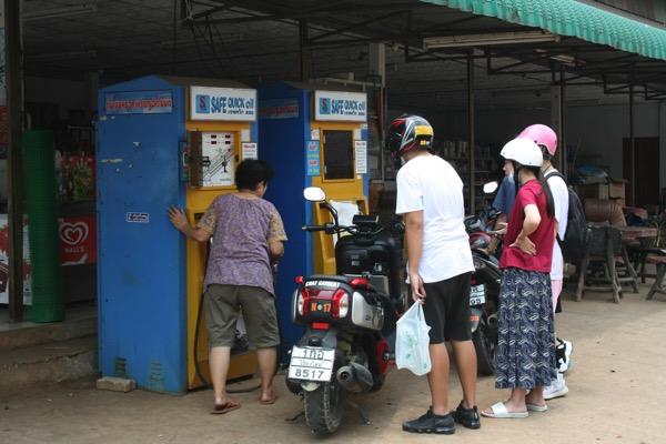 チェンライ温泉のガソリンスタンド