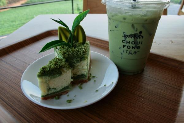 チュイフォン茶畑の抹茶スイーツ