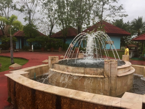 プラルアン温泉の噴水