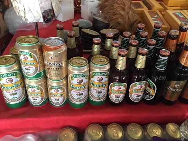 ドーンサオ島のラオスビールのゴールド