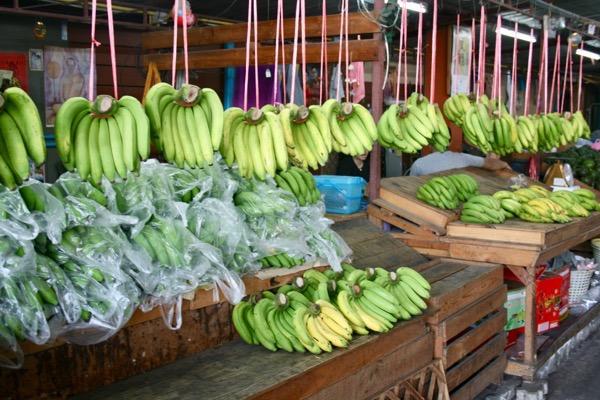 チェンマイバナナ市場の様子