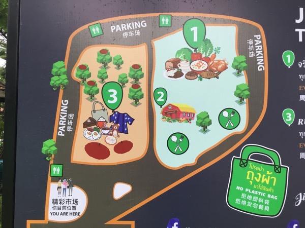 チェンマイJJマーケットの地図
