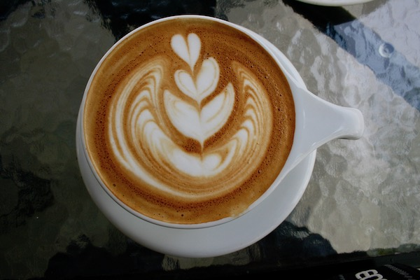 アサマカフェのカフェラテ