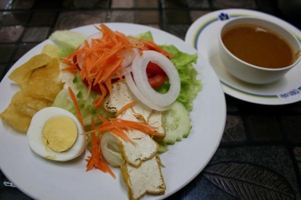 カオソーイ・スターシニー3号店のインドサラダ