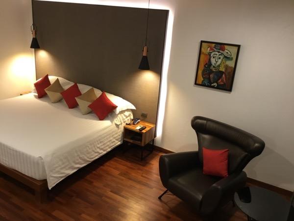 ラルーナホテルリゾートチェンライのベット