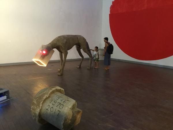 チェンマイ大学文化美術館の学生さんの作品