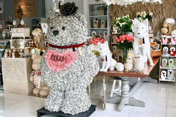 グラダートカフェのモジュール折り紙でできた動物