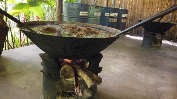 鍋で象のうんこを煮込む