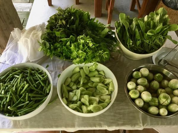フアン・ジャイ・ヨーンのセルフサービスの無料の野菜