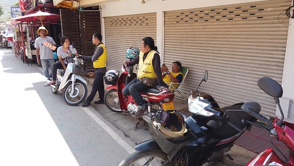 パーイのバイクタクシー乗り場