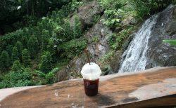 滝の目の前でゴロ寝できるカフェ「Jungle De Cafe」