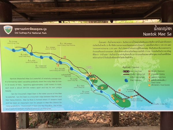 メーサー滝のハイキングコース(1.5km)