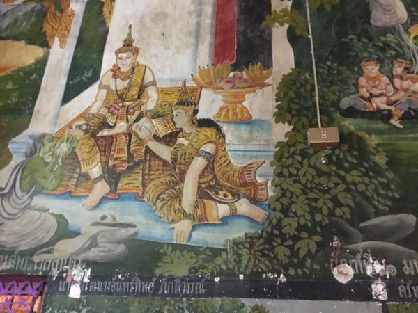 ワット・モー・カム・トゥワンの堂内の壁画