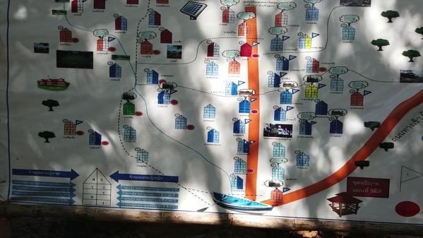 首長族の村(フアイプーケン村)の地図