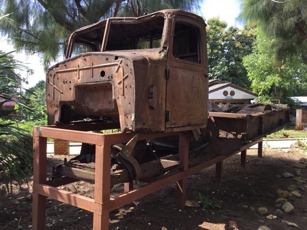 クンユアム第二次世界大戦戦争博物館に展示されている戦時中に使用されたジープ