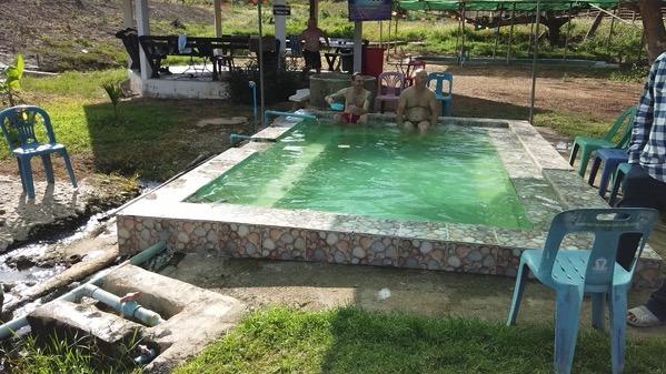ポーン・ブア・バーン温泉の露天風呂