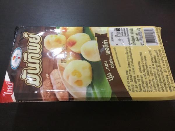 マンティップ(芋だんご)のパッケージ