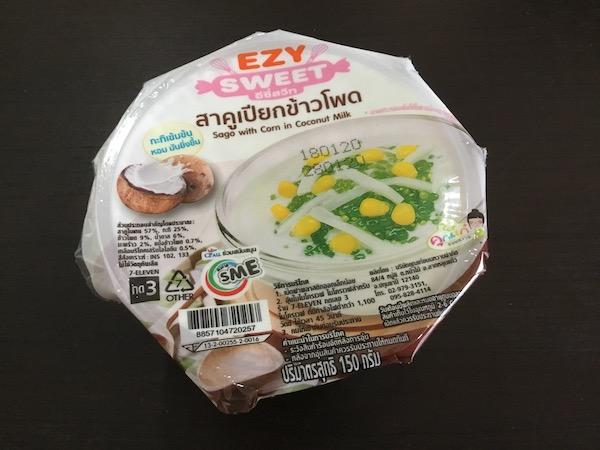 タイのコンビニで売っているピカオカ&トウモロコシ