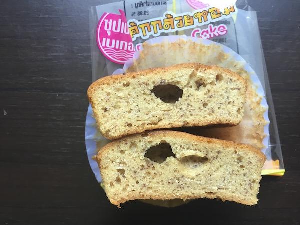 バナナケーキの断面写真
