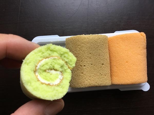 ミニファンシーロールケーキの断面写真