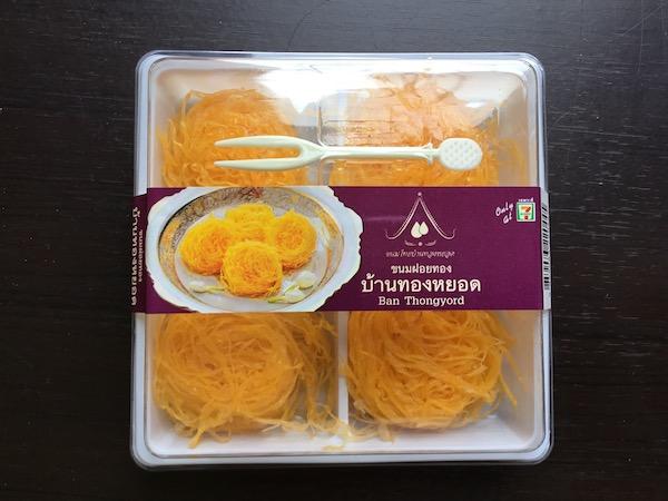 タイのコンビニで売っている鶏卵素麺のパッケージ