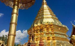 ドイステープ寺院黄金の仏舎利塔