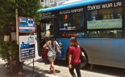 チェンマイバスマップ2020 RTCシティバス4路線のバス停案内