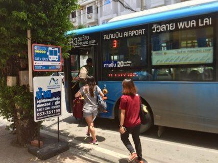 チェンマイバスマップ2020|RTCシティバス4路線のバス停案内