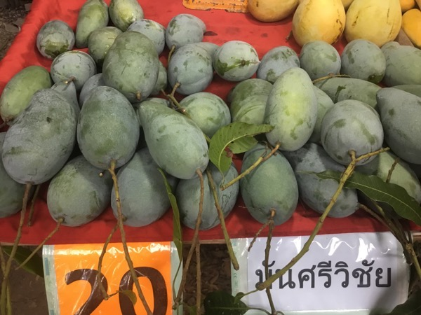 ローカル市場に並ぶマンシィウィチャイト(1kg20B)