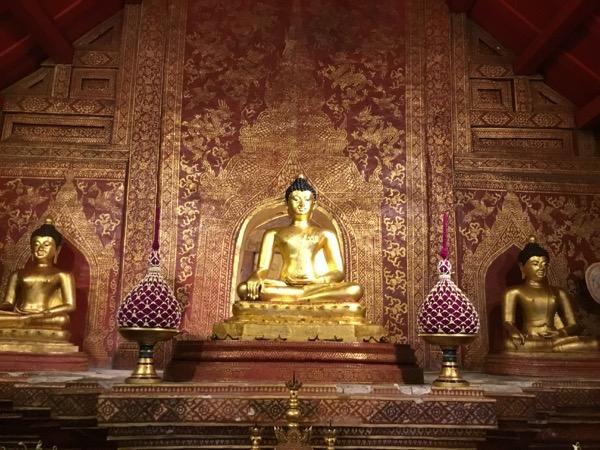 ワットプラシンのラーイカム堂に安置されているシヒン仏(プラシン)