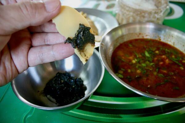 ランナー蟹味噌と竹の子のボイル