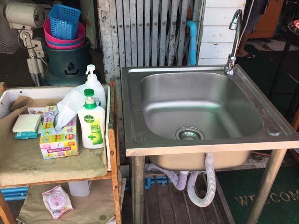 カオマンガイ・ドゥーバイの手洗い場