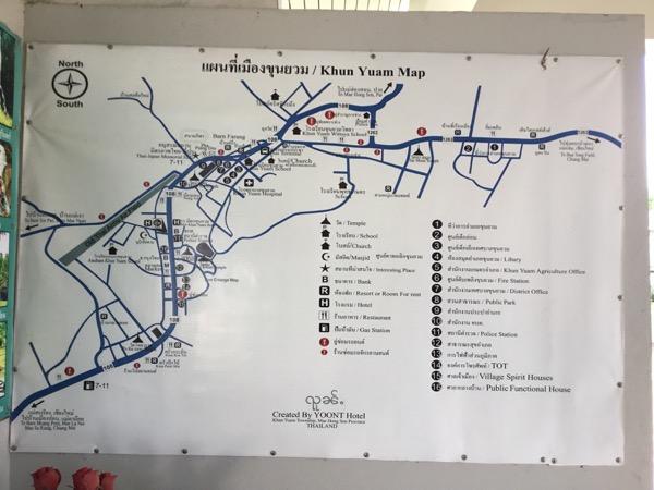 クンユアンの地図