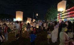 チェンマイ最大規模の無料コムローイ会場