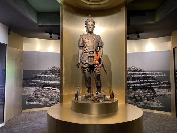ウィアンクムカーム遺跡情報センターのマラーイ王像