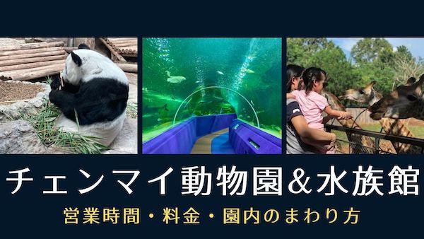 コロナ禍のチェンマイ動物園とチェンマイ水族館 入園料半額キャンペーン中