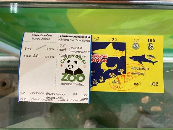 チェンマイ動物園のチケット